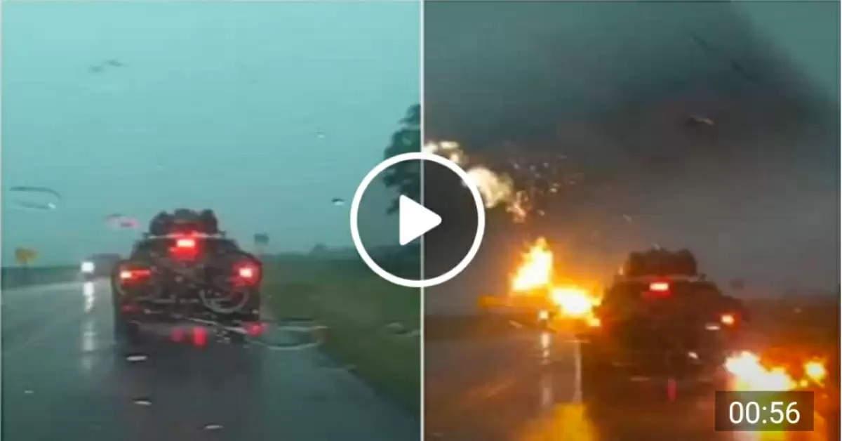 Lightning on car