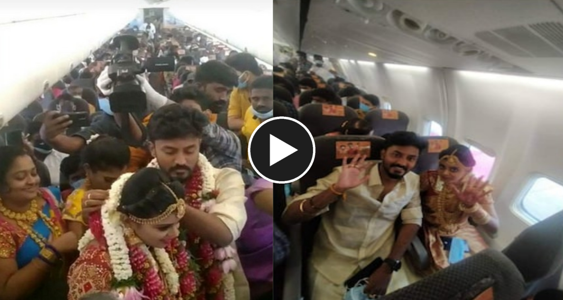 Marriage in aeroplane